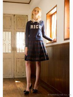 rich(リッチ)通販  裏毛ワッペンTOPS