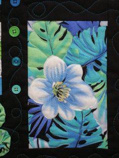 Floral Art Quilt Wall Hanging Botanical by MoranArtandQuilts, $45.00