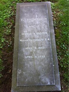 """Elizabeth """"Libbie"""" Bacon Custer - American Folk Figure. She was the wife of Civil War Major General George Armstrong Custer. After General Custer's death at the Battle of Little Big Horn in 1876, she became a celebrity herself. She wrote many articles and books, and gave many lectures that contributed to the elevation of her husband to near-mythical status."""