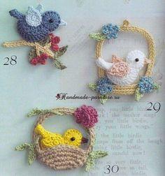 Luty Artes Crochet: Passarinho de crochê com gráfico