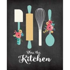 Bless This Kitchen Canvas Art - Jo Moulton (24 x 30)