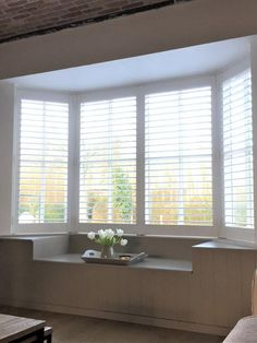 Ikea Dining Room, Interior Shutters, House Blinds, Window Design, Bay Window, Interior Inspiration, Small Spaces, Home Improvement, Home And Family