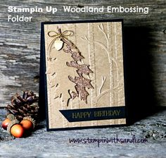 Stampin' Up! Woodland Embossing Folder Masculine Birthday