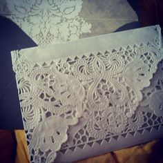 PS Wedding- lace envelopes