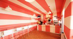 Emily´s Frozen Yogurt Yogurt Ice Cream, Frozen Yogurt, Store Design, Design Inspiration, Projects, Shops, Home Decor, Architecture, Log Projects