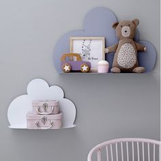 These Cloud Shelves make a stunning addition to any bedroom or nursery. Keep your head in the clouds with these delightful cartoon cloud-shaped shelves. Cloud Shelves, Large Shelves, Metal Shelves, Floating Shelves, Shelf, Girl Room, Girls Bedroom, Bedroom Decor, Girl Rooms