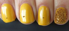 Uñas amarillas cortas - Short Yellow Nails