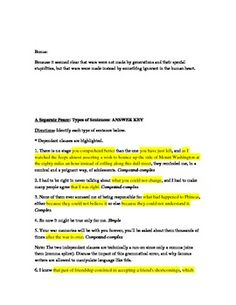 A Separate Peace Chapter Questions and Answer Key from The ...