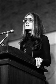 Gloria Steinam created the Ms. magazine to prove that married women shouldn't have to go by a different name. she also worked hard to help women get good jobs with the same salaries that men made.