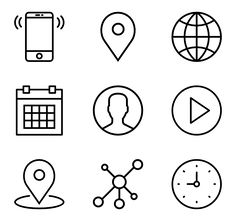 Free vector icons in SVG, PSD, PNG, EPS format or as ICON FONT. Thousands of free icons in the largest database of free vector icons! Png Icons, Vector Icons, Vector Free, Address Icon, Resume Icons, Library Icon, Network Icon, Time Icon, Iphone Background Images