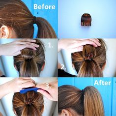 Give your pony tail some volume