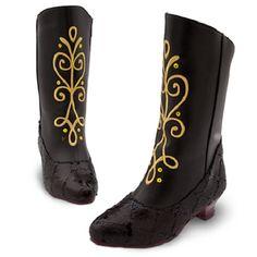 anna frozen boots | New Disney Store Frozen Anna Costume Dress Boots Shoes Black Girls ...