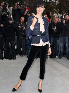 the wonderful Ines de la Fressange! at Chanel Spring Summer 2014 -Paris fashion week