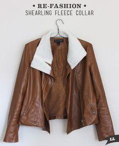 Lula Louise: Refashion –Sherpa Fleece Jacket Collar