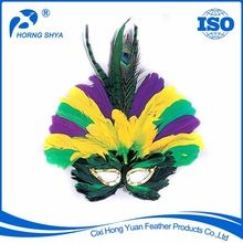 Peacock Feather Mask, Peacock Feather Mask direct from Cixi Hong Yuan Feather Products Co., Ltd. in China (Mainland)