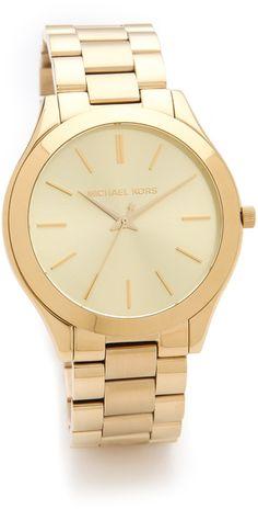 Slim Michale Kors Gold Watch
