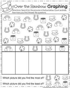 March Kindergarten Math Worksheets - Graphing