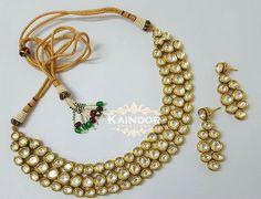 Elegant Kundan necklace with matching earrings on gold plated Base with meenakari work.  Drops can be added.  Additional accessories available on preorder  Enquires: 00447585522293 ( watsapp/ viber) Email: kainoork@gmail.com  #hudabeauty  #bridaljewelry #sikhbride #sikhbrides #asianwedding #asianbride #bridalmakeup #anastasiabeverlyhills #dollhousedubai #desibeautyblog #vegas_nay #amrezy #lookamillion #eid #mehendi #henna #walima #muslimbride #pakistanijewelry #pakistanibride…