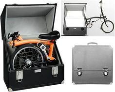 The brompton bike case - simply that a case designed to fit a folded brompton bike.