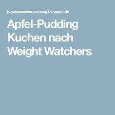 Apfel-Pudding Kuchen nach Weight Watchers