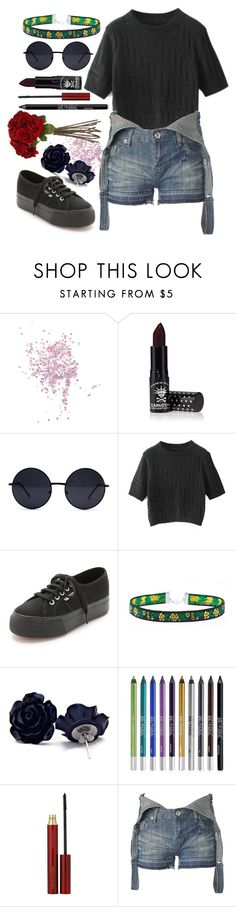 """Roses"" by hey-im-macie ❤ liked on Polyvore featuring Topshop, Manic Panic, Retrò, Chicnova Fashion, Superga, Urban Decay, Kevyn Aucoin, New Look, Sia and women's clothing"