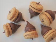 Kid-Friendly Bit-Size Thanksgiving Acorn Dessert