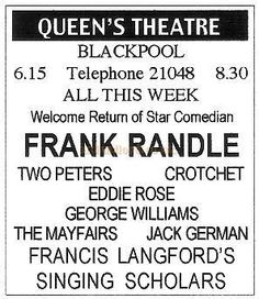 Blackpool Wonderful Blackpool - An Article on Blackpool Theatres ...