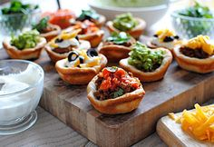 7-layer Dip Pizza Cupcakes | Rock UR Party Recipes
