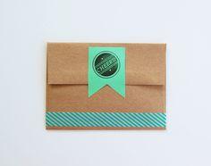 diy envelope washi tape and ribbon