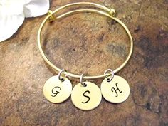 Personalized Jewelry Initial Bracelet Mommy by CharmAccents
