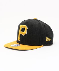 ONSPOTZ KIDS(オンスポッツ キッズ)のNEWERA KIDS 9FIFTY SNAPBACK CAP LOGO GRAND PITTSBURGH PIRATES BLACK(キャップ)|ブラック×イエロー