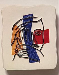 Face with both hands  - Fernand Léger
