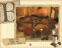 Buttermilk Basin Barn Star The Pattern Hutch wool applique craft pattern