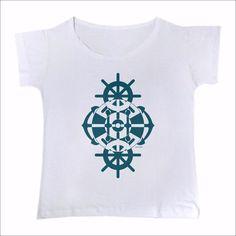 T-Shirt Barco azul mar