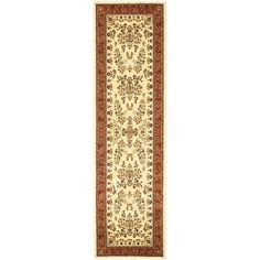Safavieh Lyndhurst Traditional Oriental Ivory/ Rust Runner (2'3 x 16'), Beige Off-White, Size 2'3 x 16'
