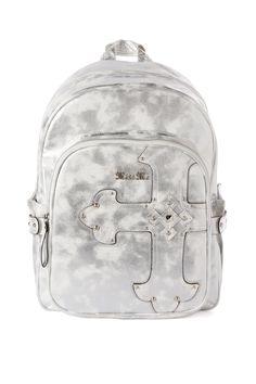 Jessie Metallic Backpack in Pearl Silver - Miss Me Jeans - The Original  Embellished Denim 87f55cef849c4