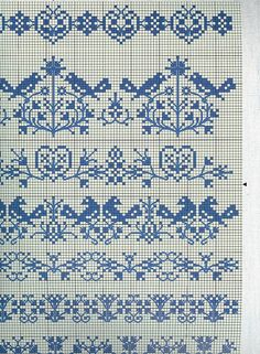 Delft Bue Stitchery (counted cross) Sampler