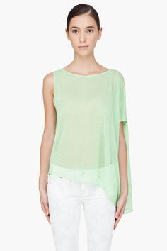 green draped tank top ▲ helmut lang