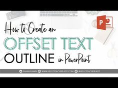 Learn how to create an offset text outline effect in PowerPoint (or any other photo editing software), and how to match the exact HSL/RBG/HEX color codes fro. Website Tutorial, Google Keep, Video Notes, Technology Integration, Text Effects, Outline, Texts, Photo Editing, Teacher