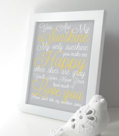 You are My Sunshine Nursery Art Print - Baby Boy / Girl Nursery Wall Art - Lullaby Subway Art Kids Room - Yellow and Gray Baby Girl Nursery Decor, Baby Boy Nurseries, Nursery Wall Art, Baby Rooms, Nursery Prints, Nursery Ideas, Room Ideas, Yellow Nursery, Kids Room Art
