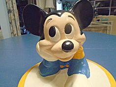 Mickey Mouse Drummer Cookie Jar @walt Disney Productions