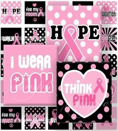 Breast Cancer Pink Ribbon Digital Collage 418  by sweetcolours, $3.00