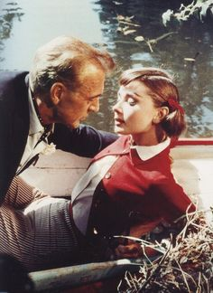 Gary Cooper and Audrey Hepburn, Love in the Afternoon (1957). Directed by Billy Wilder.