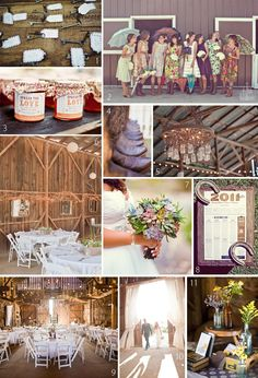 Love the barn reception idea, and the cowboy boots.