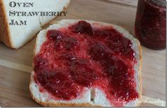 Oven Strawberry Jam by lifeafterlaundry: Fill your house with the delicious smell of slow roasted strawberries. Easy! #Jam #Strawberry