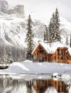 Emerald lake in the winter is pure magic