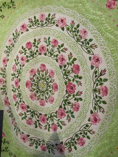 Love the lacy applique!  2011 Quilt Market.  Photo by Jackie-Quilts!, via Flickr
