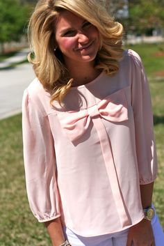 Bow Pink Top