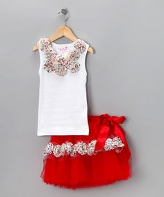 Take a look at this White & Red Polka Dot Tutu & Tank - Infant & Toddler by Tutu Moi on #zulily today!