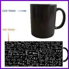 science Albert Einstein mug magic mugs coffee mug heat reveal Heat sensitive mugs changing color wine